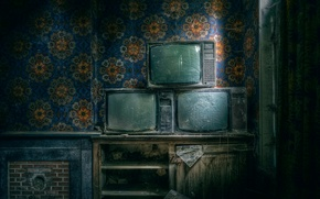 Picture room, dust, TV