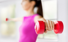 Picture fitness, training, dumbbells