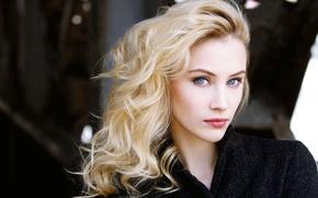 Picture girl, woman, blue eyes, photos, beauty, face, look, blonde, actress, portrait, gaze, Sarah Gadon