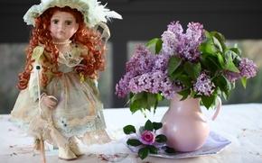 Picture doll, pitcher, lilac, © Elena Di Guardo