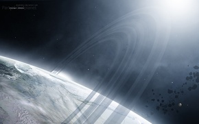 Picture ice, surface, planet, satellite, asteroids