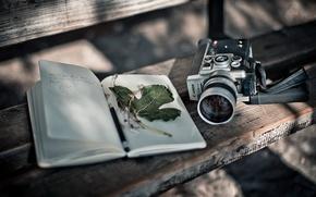 Picture background, camera, book