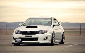 Picture Subaru, Impreza, WRX, white, white, Subaru, Impreza, STi