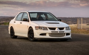 Picture Mitsubishi, Lancer, Evolution, White, VIII