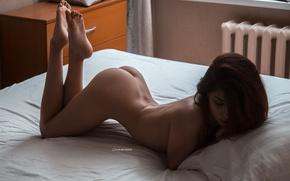 Wallpaper ass, girl, pose, bed, legs