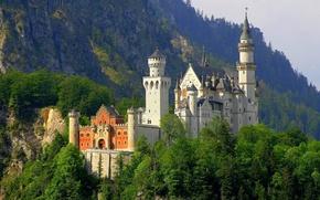 Picture Germany, Neuschwanstein, castle, the Neuschwanstein castle. Bayern