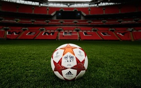 Picture field, lawn, football, the ball, gate, tribune, stadium, Champions League, Wembley, Wembley