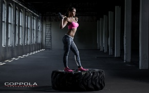 Wallpaper photography, pose, hammer, crossfit