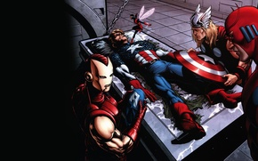 Wallpaper iron man, marvel, comic, Thor, comics, captain america, captain America, thor, iron man