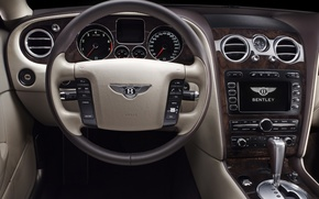 Wallpaper dashboard, sedan, flying, continental, Bentley, continental, salon, bentley, machine, auto, spur, flying, the spur