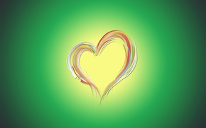 Picture green, minimalism, love