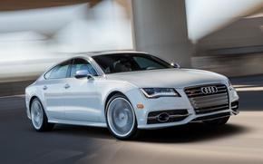Picture Audi, Road, Audi, White, Machine, Movement, Machine, Car, Car, Cars, White, Cars, Road, Sportback, US-spec