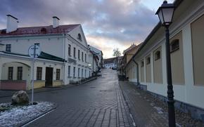 Picture road, street, building, lights, road, street, Belarus, town, Minsk, Belarus, Minsk