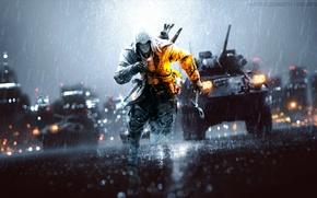 Picture battlefield, killer, assassins creed 3, Connor