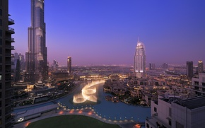 Picture city, home, the evening, Dubai, Dubai, skyscrapers, panorama., naght