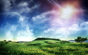 Picture the world, planet, world, scenery, fantastic, fantastic, distant, Pesa