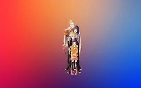 Picture joy, happiness, rainbow, family, Naruto, naruto, blue hair, blonde, Hinata, chakra, hinata, Uzumaki, byakugan, Konoha, …