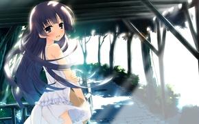 Picture girl, light, glare, track, Art, Ruri Gokou, embarrassment