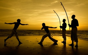 Picture beach, Brazil, Ceará, capoeira, martial arts, Jericoacoara