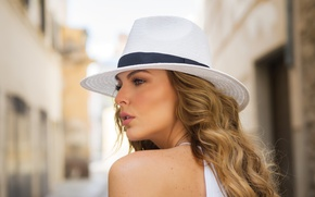 Wallpaper model, hair, hat, actress, Marjorie de Sousa