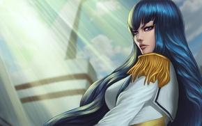Picture look, long hair, rays of light, jacket, kill la kill, epaulettes, satsuki kiryu I, smash …