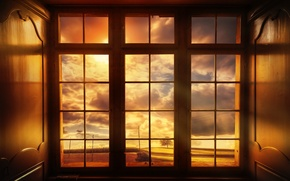 Picture view, treatment, window, The world outside