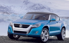 Picture snow, stones, Volkswagen, Concept A
