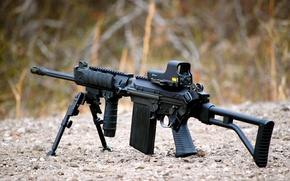 Picture weapons, gravel, assault rifle, FN FAL
