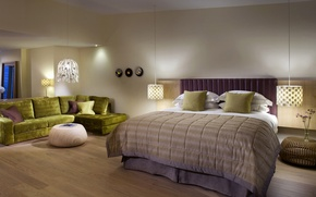 Picture design, bed, bedroom, Interior