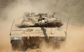 "Picture dust, tank, combat, main, Merkava, Israel, Mk.3, ""Merkava"""