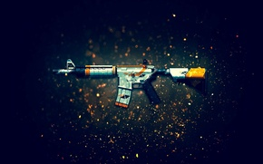 Wallpaper weapons, background, rifle, assault, CS:GO