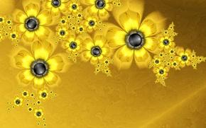 Picture light, flowers, petals, the volume