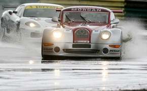 Picture squirt, track, Race, car, Morgan, Aero 8, British GT