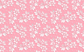Picture flowers, pattern, the volume, background, pink