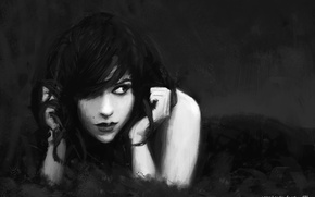 Picture girl, style, Gothic, art