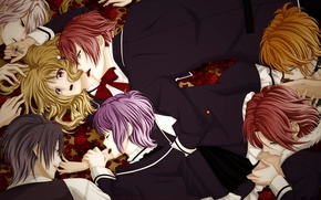 Picture girl, guys, vampires, Diabolik Lovers