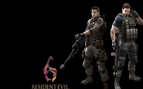 Picture wallpaper, gun, pistol, game, soldier, weapon, Resident Evil, man, sniper, chris, rifle, Resident Evil 6, …