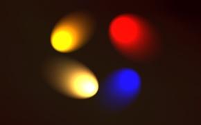 Picture color, circles, movement, four