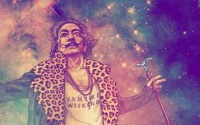Wallpaper mustache, look, face, figure, artist, cane, Salvador Dali