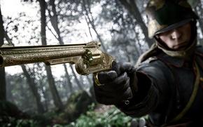 Picture gun, war, soldiers, trunk, Electronic Arts, Battlefield 1