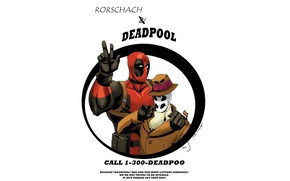 Picture Watchmen, Rorschach, keepers, Deadpool, comic, MARVEL, Rorschach, Marvel, Deadpool