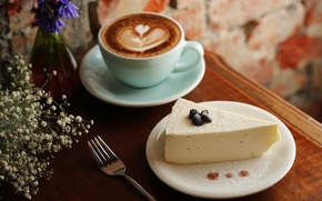 Picture cheese, coffee, Cup, dessert