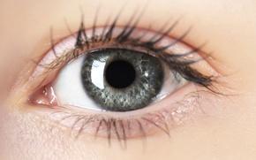 Wallpaper woman, eye, eyelash, pupil, look