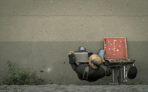 Picture music, street, musician