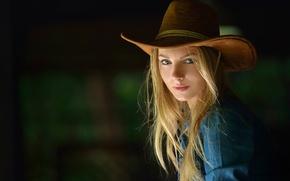 Picture look, portrait, hat, the beauty, curls