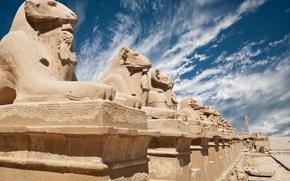 Wallpaper Egypt, wear, sculptures, old buildings