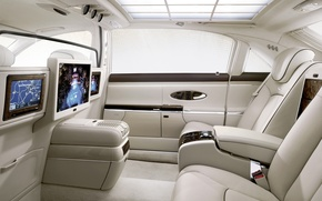 Picture leather, TV, Maybach, salon, luxury, light