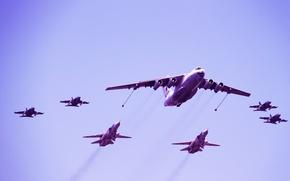 Picture bomber, attack, BBC, Russia, Dry, Yakovlev, Ilyushin design Bureau, tanker aircraft, Su-24, 130, Il 78
