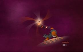 Picture purple, minimalism, linux, ubuntu, 13.04
