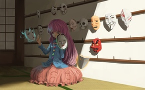 Picture demon, sake, game, Bleach, devil, anime, pretty, V for Vendetta, asian, Scream, Anonymous, cute, Touhou, ...
